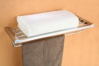 Półka na ręczniki z relingiem  <br/>  ROK-87012