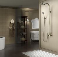 Zestaw kabinowo-prysznicowy natynkowy <br/> GAL-ZKPN.400-ORN MOSIĄDZ ANTYCZNY